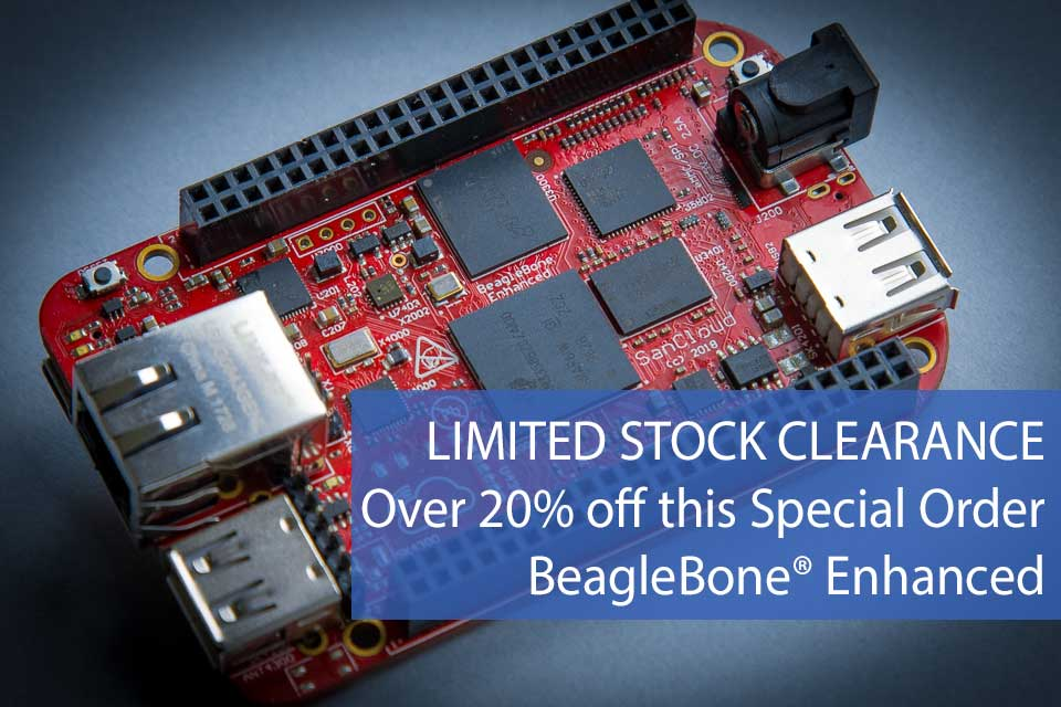 SanCloud BeagleBone® Enhanced (BBE) No WiFi + RTC