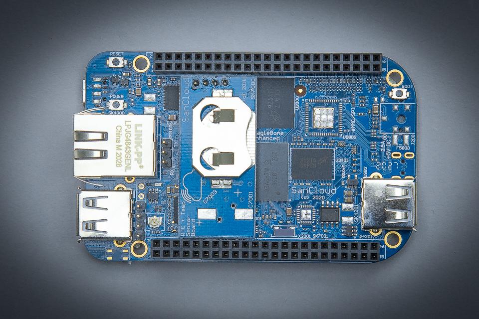 SanCloud BeagleBone® Enhanced (BBE) WiFi 512 + RTC